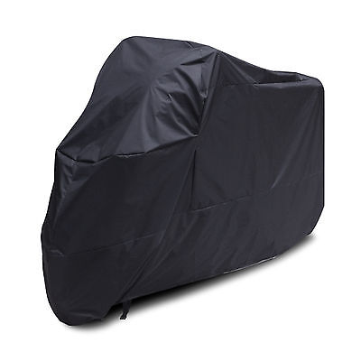 New Waterproof Durable Motorcycle Bike Rain UV Dust Protection Cover Black XXL