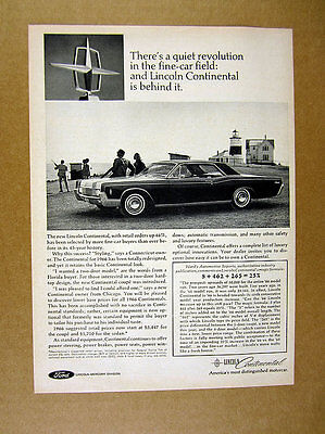 1966 Lincoln Continental Two 2-door car photo vintage print Ad