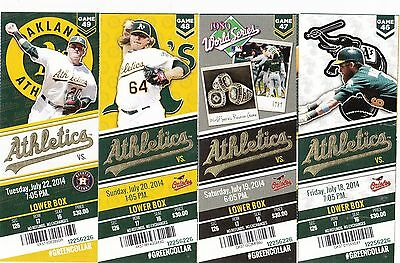 2014 OAKLAND ATHLETICS PICK YOUR GAME DONALDSON 2nd half TICKET STUB MANY DATES