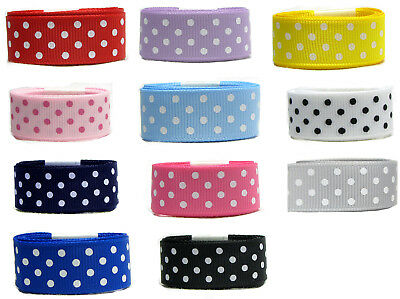 "10y 25y 50y 16mm 5/8"" 4 Dots Polka Dot Grosgrain Ribbon Holiday Gift Eco Premium"