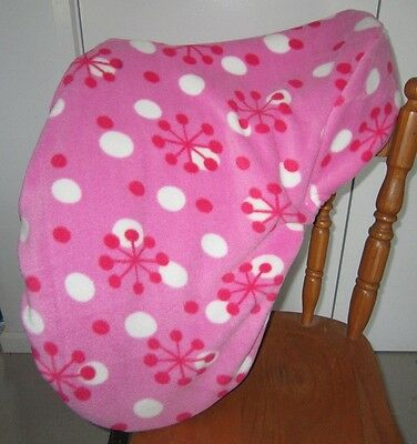 Horse Saddle cover Pink Snowflakes  & FREE EMBROIDERY Aussie Made Protection