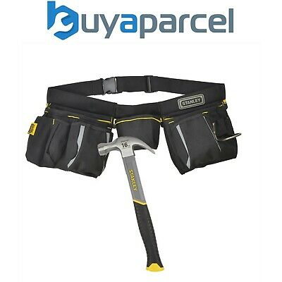 Stanley Tool Apron Multi Pouch and 16oz Stanley Claw Hammer STA196178 1-96-178