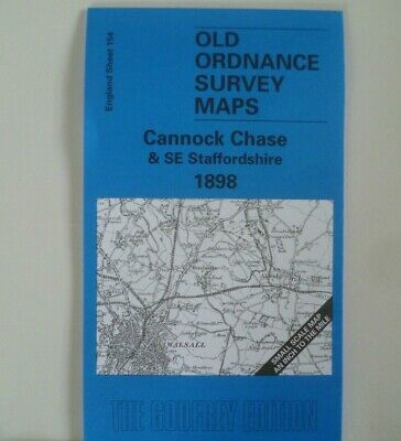 OLD ORDNANCE SURVEY MAP CHESLYN HAY 1882 GREAT WYRLEY LITTLEWOOD CHURCH BRIDGE