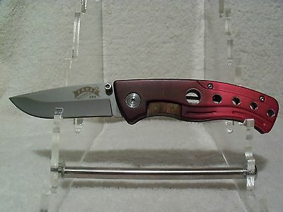 ONE BRAND NEW FROST CUTLERY RED REFLEX FOLDER TACTICAL KNIVES NEW IN BOX