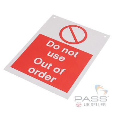 Lockout Tagout Sign - 'Do Not Use - Out of Order' - 200 x 150mm w/ Nylon Cord