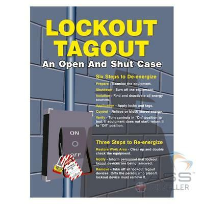 LOTO Procedures Poster - ''Lockout Tagout - An Open and Shut Case''