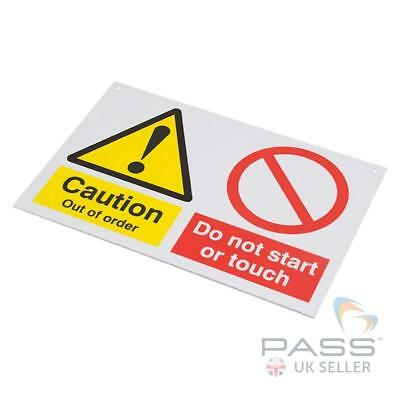 Lockout Tagout Sign - 'Caution - Do Not Start' - 150 x 225mm w/ Nylon Cord