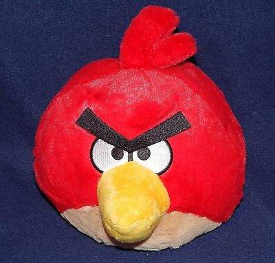 """8"""" Large Red Angry Birds Plush Doll Stuffed Animal Commonwealth 2010"""