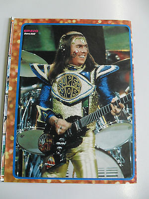 1 german clipping SLADE DAVE HILL NOT SHIRTLESS GLAM ROCK BAND BOYS 1973 BRAVO