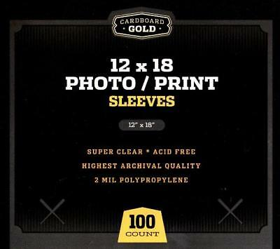 1000 CBG 12 x 18 Print / Poster Archival Poly Soft Sleeves protectors holders