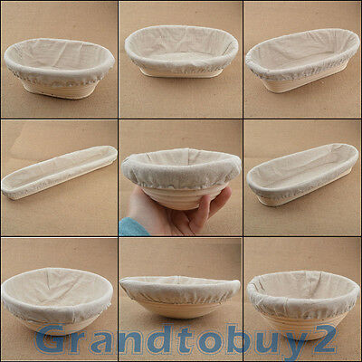 NEW Multiple Shape&Size Banneton Brotform Bread Proofing Proving Rattan Basket