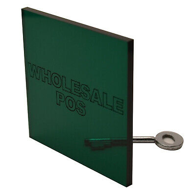 Dark Green Tinted Acrylic Perspex Sheet Plastic Material A5 A4 & A3 3mm & 5mm