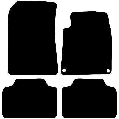 Peugeot 407 Tailored Black Car Floor Mats Carpets 4pc Set With Clips