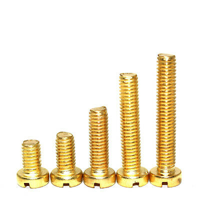 M4 (4mm) SOLID BRASS METRIC SLOTTED CHEESE HEAD MACHINE SCREWS / BOLTS DIN84