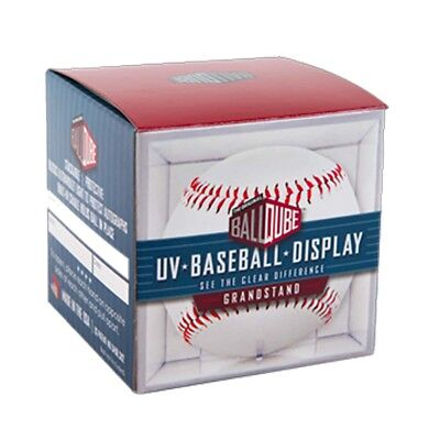 12 BallQube Baseball Display Case Cubes 98% UV w/Cradle