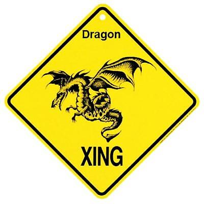 Dragon Crossing Xing Sign New Made in USA