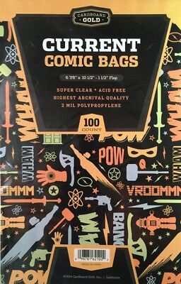 1000 Ultra CBG Pro Current / Modern Comic Book Archival Poly Bags 6 7/8 X 10 1/2