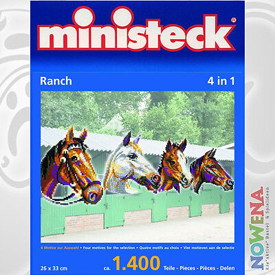 MINISTECK 4 in 1 ~~Tier Ranch~~ ca. 1400 Teile -  NEU/OVP