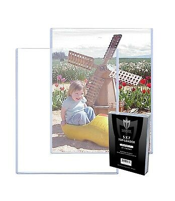 75 MAX PRO 5 x 7 PHOTO RIGID HARD PLASTIC TOPLOAD PROTECTOR HOLDER TOPLOADER 5x7