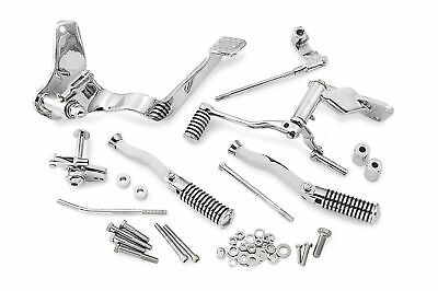 Complete Chrome Forward Controls Control Kit With Foot Pegs Footpegs Harley FXR