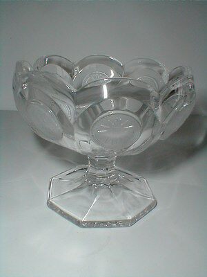 "Fostoria Clear Glass 1886 COIN 3-1/2"" Tall Open Jam/Jelly Compote"