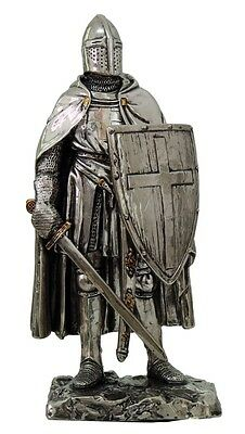 Medieval Knight Figurine. Suit Of Armor Foot Soldier Figure Statue Chivalry
