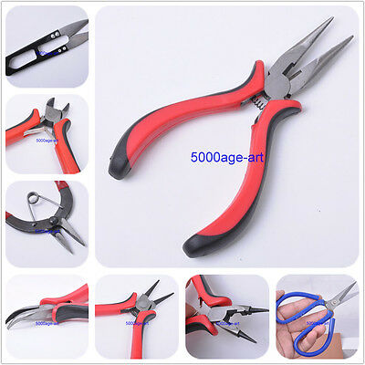 Jewelry Finding Making Beading Bead Crafting Diy Pliers punch scissors Tools