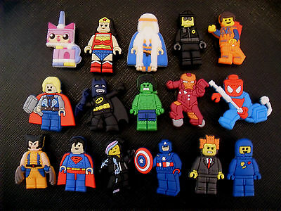 16 x Lego Movie Avengers Croc Shoe Charms Jibbitz Crocs Wristbands Charm Batman