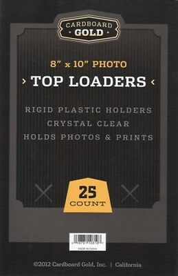 500 CBG 8 x 10 Hard Plastic Rigid Topload Photo Holders 8x10 toploaders -2 CASES