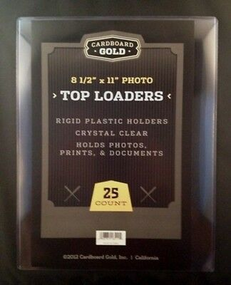100 8.5x11 Ultra CBG Premium Pro Hard Rigid Toploaders Photo Topload Holders