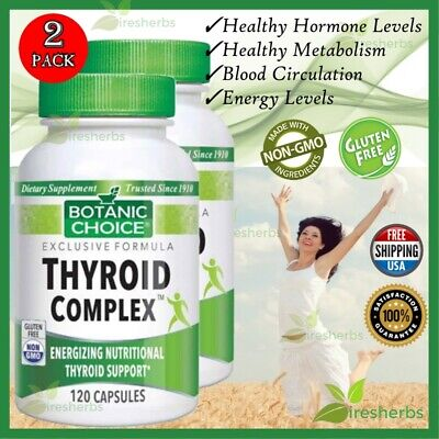 Thyroid Complex Nutritional Weight Loss Dietary Supplement 240 Capsule 2 Bottles
