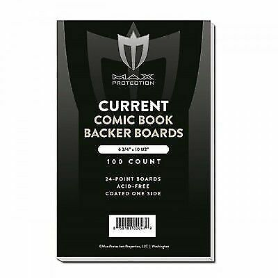400 - Max Pro Current Modern Comic Book Backing Boards 6-3/4 Acid Free Archival