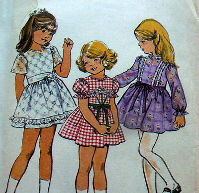 LOVELY VTG 1970s GIRLS DRESS Sewing Pattern 4