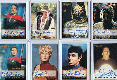 Star Trek Voyager Autograph Card Selection NM Skybox Rittenhouse