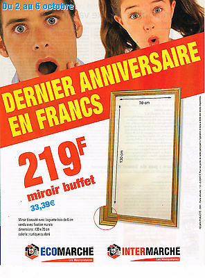 Publicite Advertising 114 2001 Intermache Le Dernier Anniversaire En France Collections Objets Publicitaires
