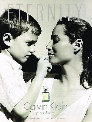 Calvin 1998 Christy Parfum Turlington Affiche Contradiction Klein ynwPN0v8Om