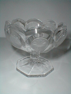 "Fostoria Clear Glass 1887 COIN 3-7/8"" Tall Open Jam/Jelly Compote"