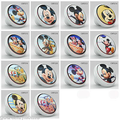 NURSERY DISNEY Mickey Minnie Mouse Pluto Ceramic Knob Pull Furniture ...