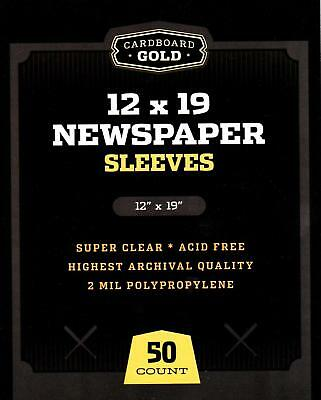 500 CBG 14 x 19 Newspaper Acid Free 2-Mil Clear Poly Sleeves 14x19 archival