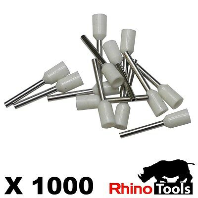 0.5mm Bootlace Ferrules X 1000   Wire ends Cord end terminals connectors crimper