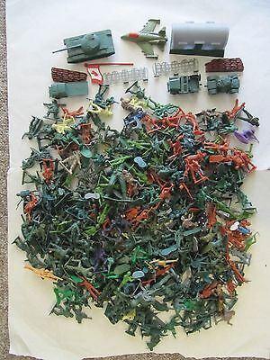 Over 600 Plastic Toy Soldiers, Military Vehicles, Cowboys, Indians, etc.