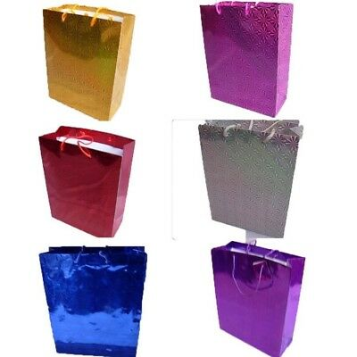 Large Shiny Paper Carrier Present Gift Bags Christmas Wedding Birthday 32X 26cm