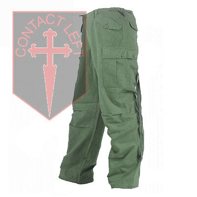 New Mens Rip-Stop Olive Green Combat M65 TROUSERS All Sizes High Quality