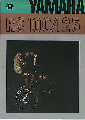 (36A) CATALOGUE dépliant YAMAHA RS 100 / 125