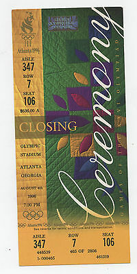Original Ticket   Olympic Games ATLANTA 1996  -  CLOSING CEREMONY  !!  RARITY