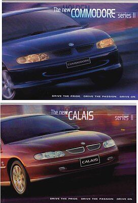 Two 1999 HOLDEN VT SERIES II COMMODORE & CALAIS Prestige Brochures