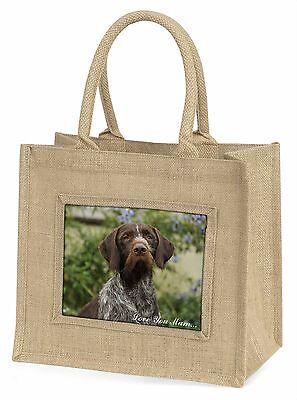 German Wirehaired Pointer 'Love You Mum' Large Natural Jute Shopp, AD-GWP1lymBLN