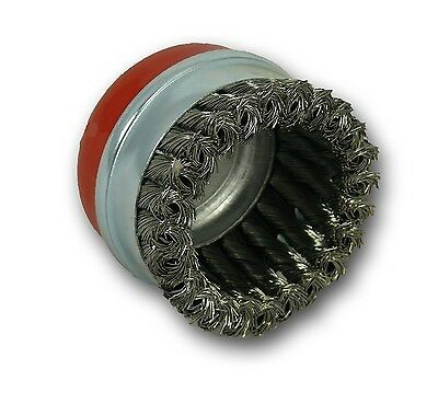 "ABRACS 95MM 4"" DIAMETER x M14 THREAD TWIST KNOT WIRE CUP BRUSH"