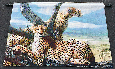 Cheetah Family Tapestry Wall Hanging ~ Artist, Kevin Daniel