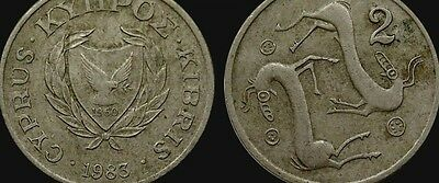 Cyprus 2 Two Cent Cents Greek Cypriot Coins